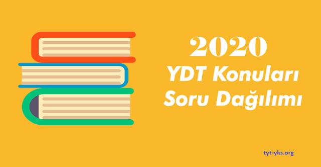 2020 YDT Konuları ve Soru Dağılımı