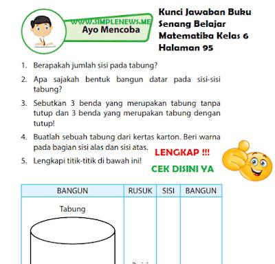 Kunci Jawaban Buku Senang Belajar Matematika Kelas 6 Halaman 95 www.simplenews.me