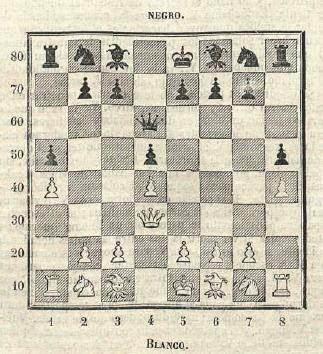 Curiosa posición inicial de una tradicional partida de ajedrez en Ströbeck