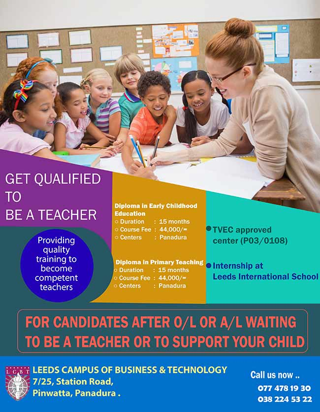 Get qualified to be a Teacher. Register now - January Intake