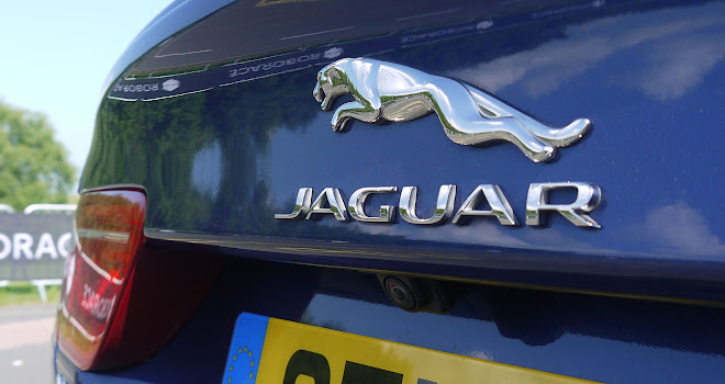 Jaguar XE leaping cat boot badge