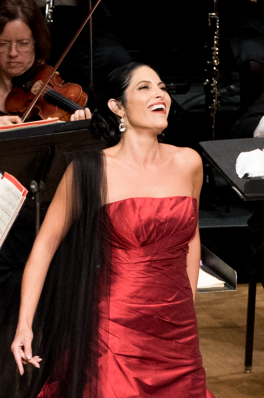 IN REVIEW: Mezzo-soprano VIVICA GENAUX singing Maffio Orsini's Brindisi from Gaetano Donizetti's LUCREZIA BORGIA in Washington Concert Opera's 30th Anniversary Concert, 18 September 2016 [Photo by Don Lassell, © by Washington Concert Opera]