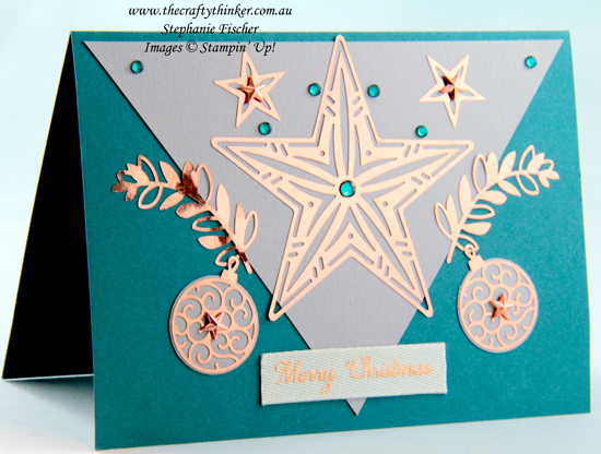 #thecraftythinker #stampinup #cardmaking #christmascard #brightlygleaming , Christmas card, Brightly Gleaming Suite, Stampin' Up Demonstrator, Stephanie Fischer, Sydney NSW