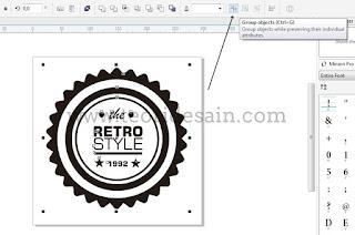 Cara Membuat Logo Retro Vintage Blurred Menggunakan CorelDRAW10