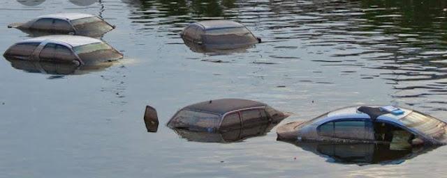 غرق العديد من المركبات فى إسرائيل