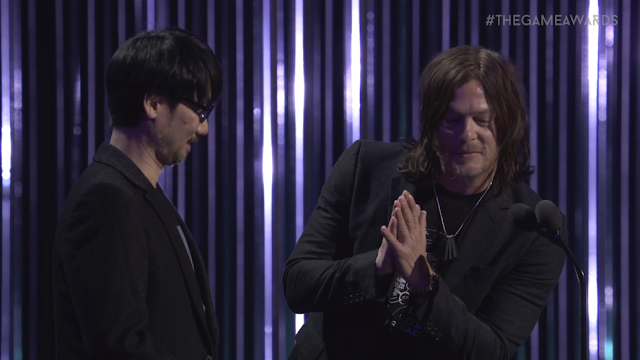 The Game Awards 2017 Norman Reedus Hideo Kojima together
