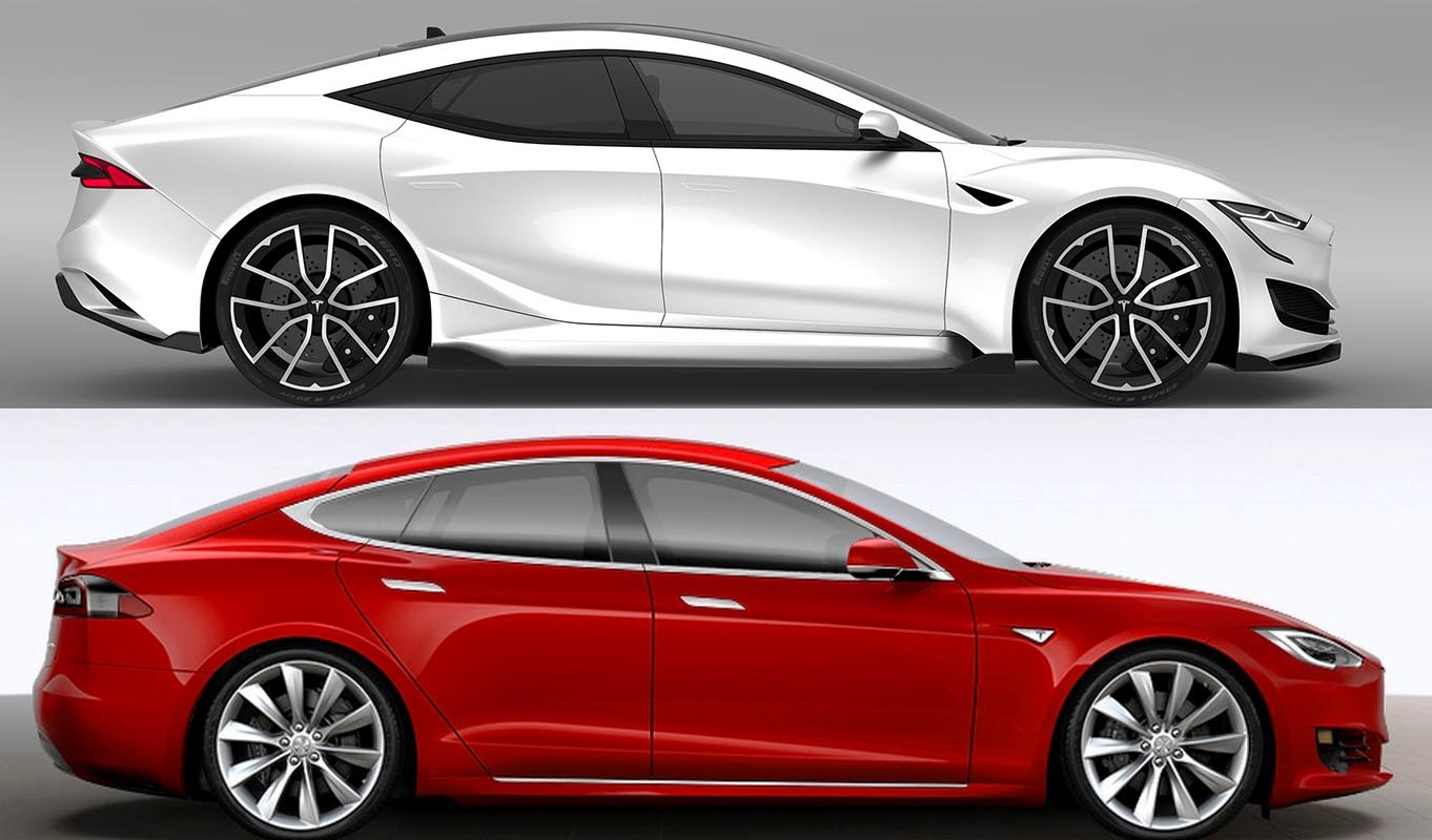 Next Generation Tesla Model S Renderings