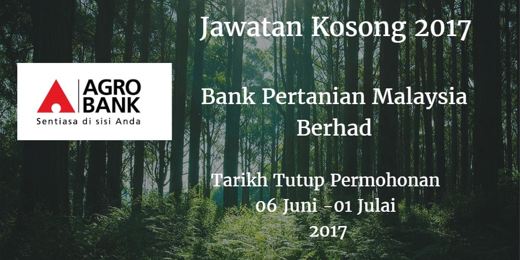 Jawatan Kosong Agrobank 06 Juni - 01 Julai 2017