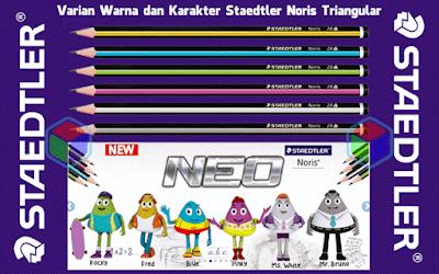 Pensil Staedtler Noris Triangular dan Karakter