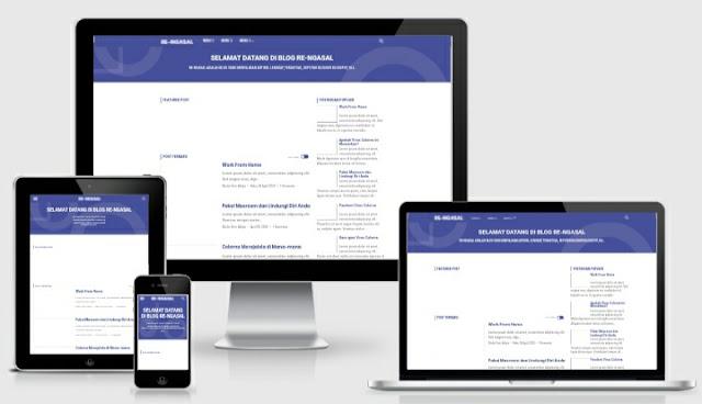 Template Blogger VioMagz Redesign Terbaru Gratis