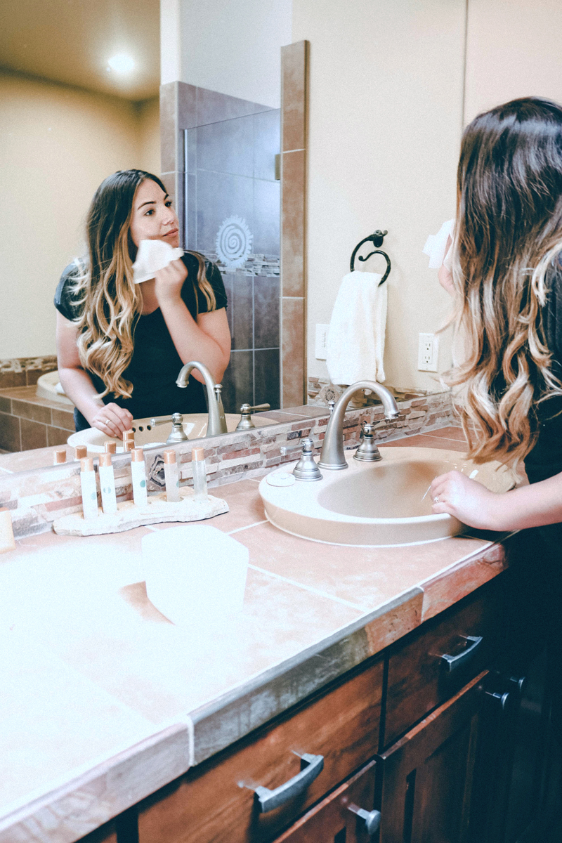 travel cleanser, travel facial routine, beauty blog