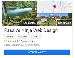 Passive Ninja Web Design Jacksonville