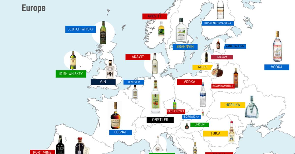 landkartenblog europakarte der lieblingslik re jedes land trinkt sich anders unter den tisch. Black Bedroom Furniture Sets. Home Design Ideas
