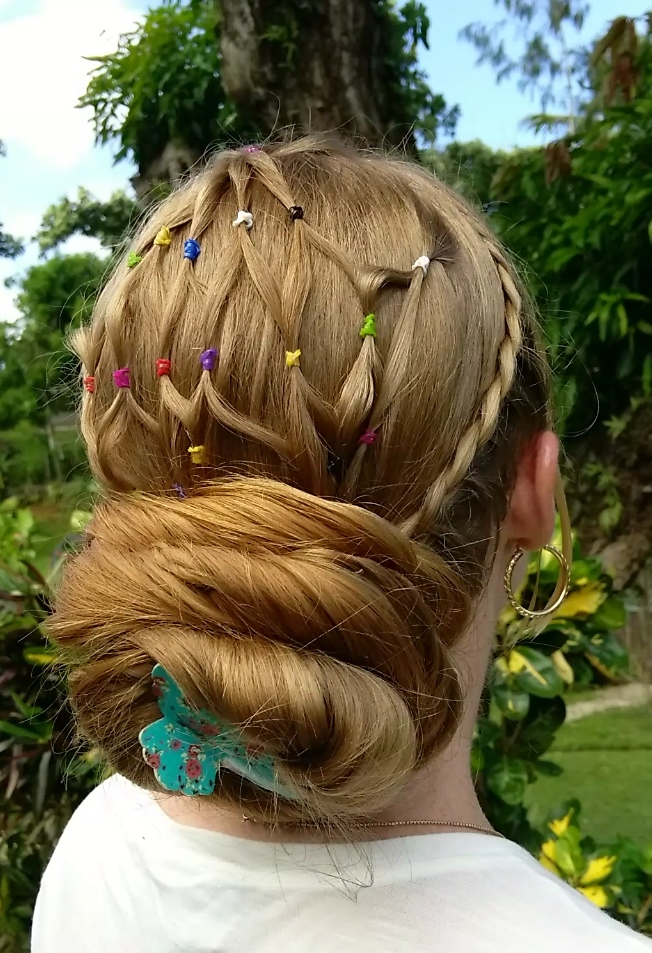 Braids & Hairstyles for Super Long Hair: Fishnet Hairstyle