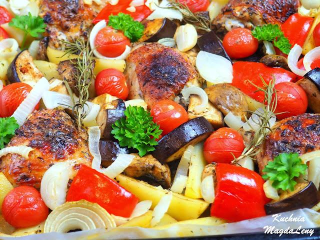 Udka z warzywami pieczone w piekarniku