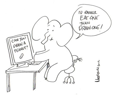 Comment Dessiner Un Elephant Dessein De Dessin