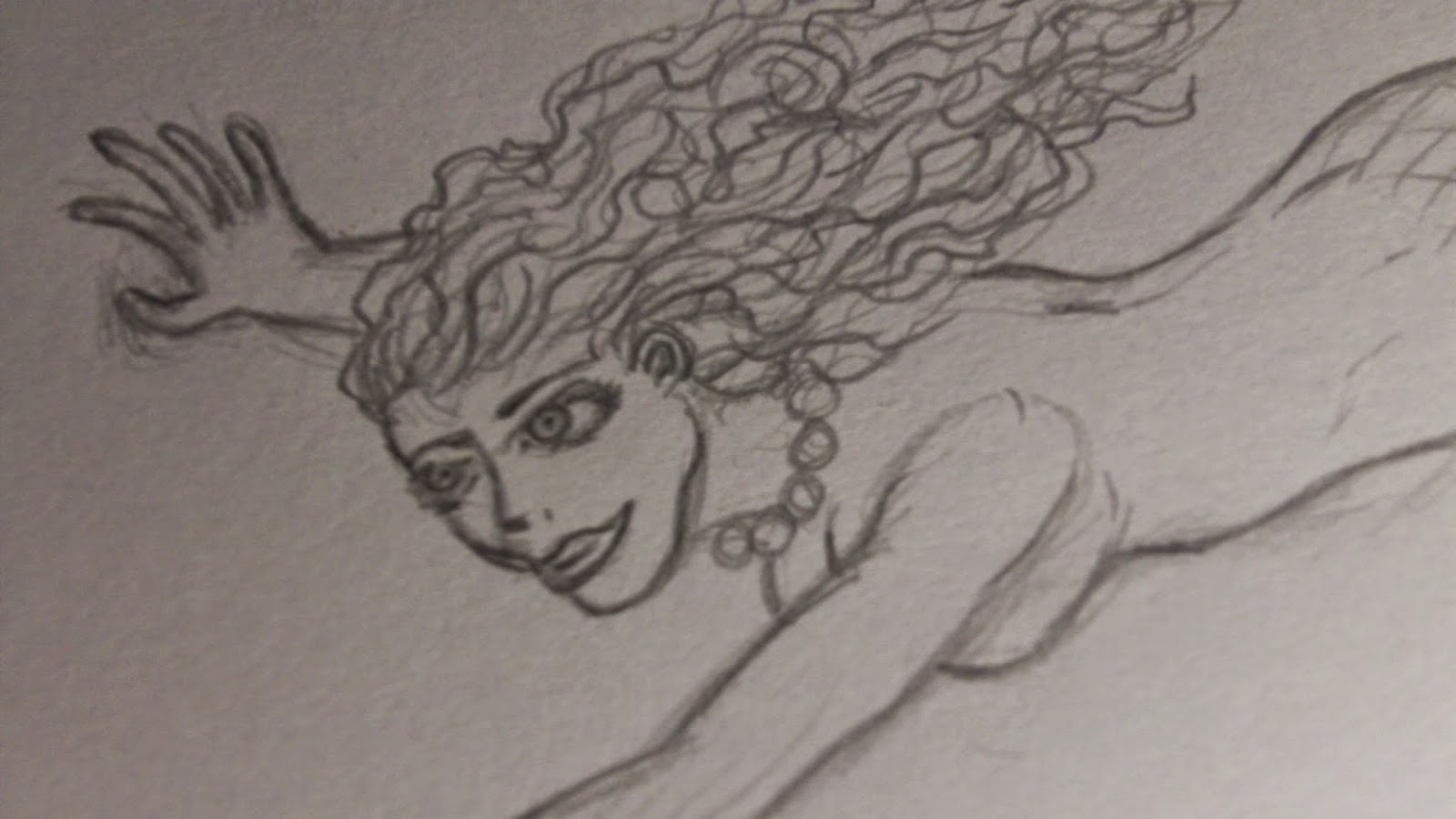 mermaid draft sketch