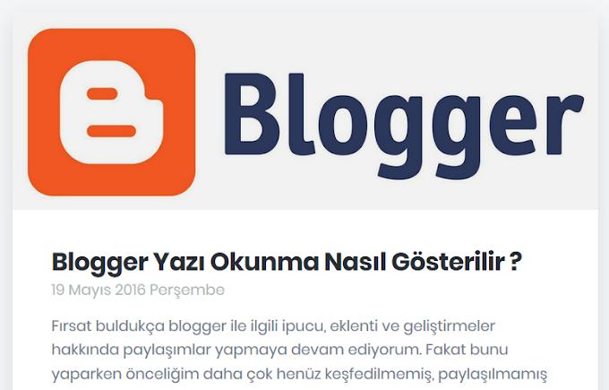 Blogger Thumbnail - Öne Çıkan Resim Alanı Nasıl Oluşturulur ?