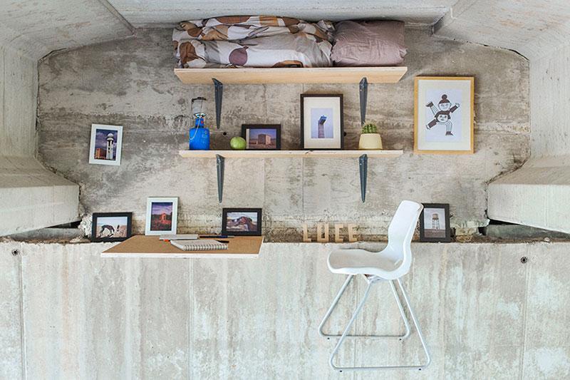 Secret Studio Suspended Under a Bridge by Fernando Abellanas