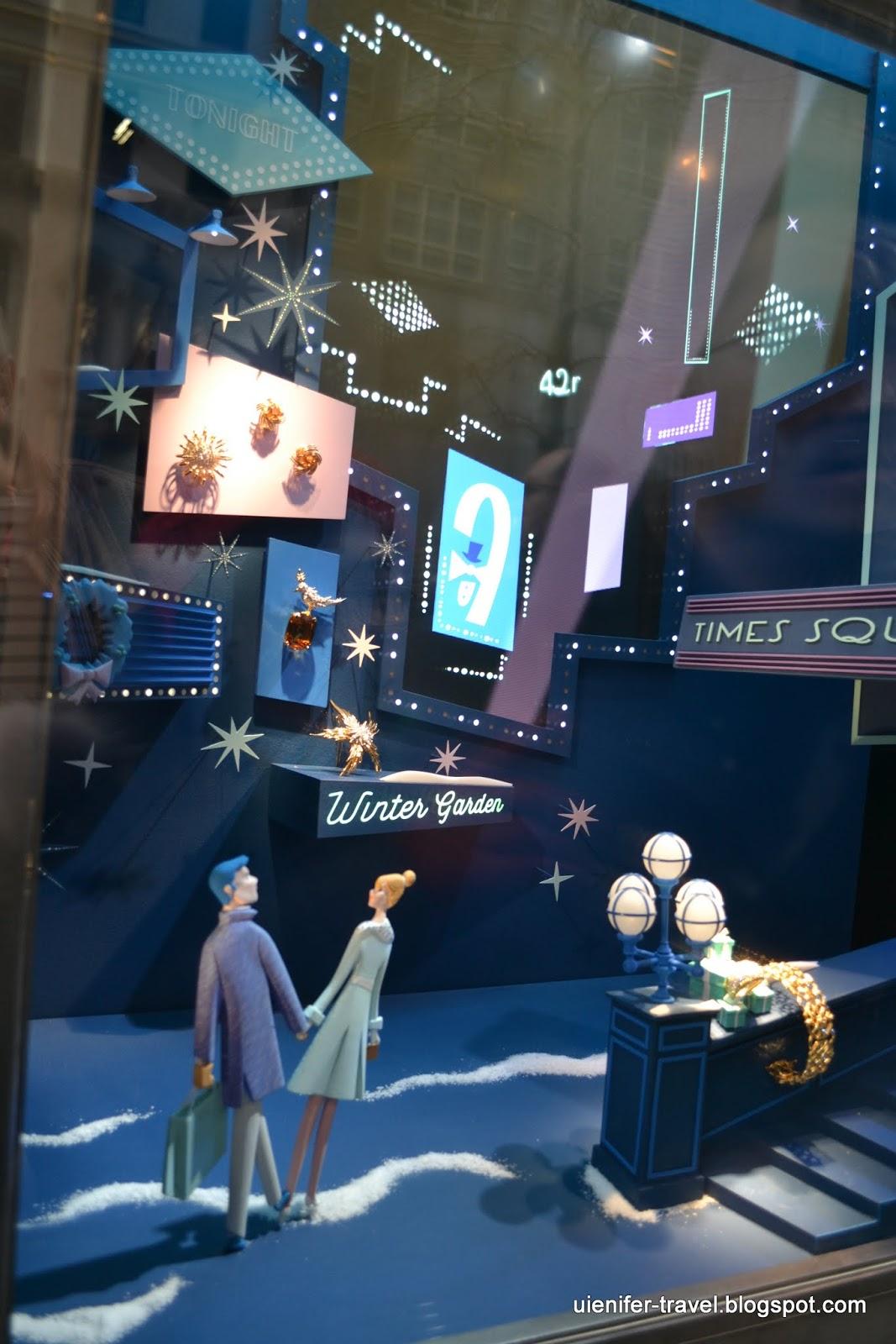 Рождественский Нью-Йорк 2014 - витрины Tiffany & Co