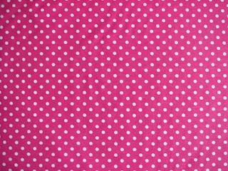 ružová bavlna biele bodky