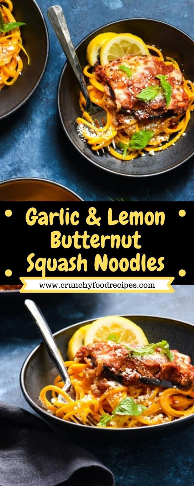 Garlic & Lemon Butternut Squash Noodles