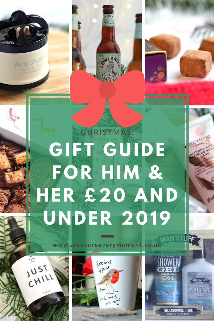 CHRISTMAS: Gift Guide for Him & Her £20 and Under 2019