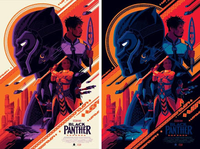 New York Comic Con 2018 Exclusive Black Panther Movie Poster Screen Print by Tom Whalen x Grey Matter Art x Marvel