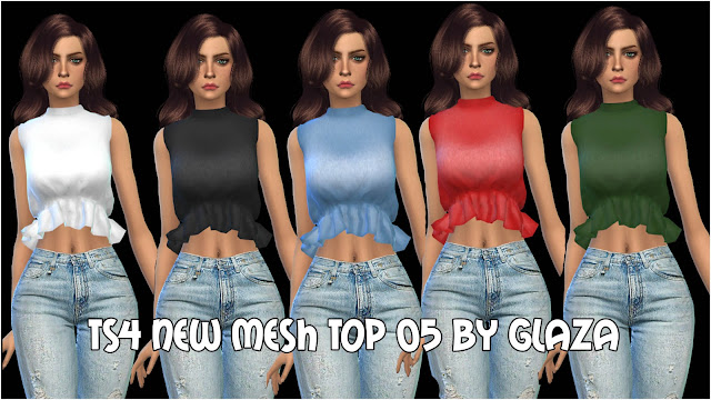 ts4 new mesh Top 05 by glaza