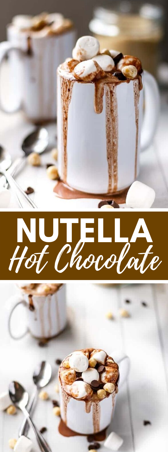 Nutella Hot Chocolate #drinks #hotdrink