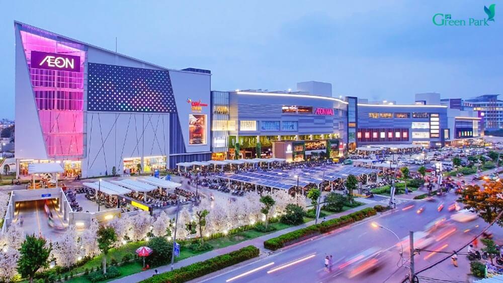 Phối cảnh siêu thị Aeon Mall Hoàng Mai