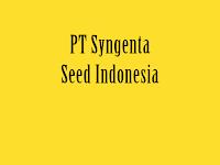 Lowongan Kerja PT Syngenta Seed Indonesia 18 Januari 2020
