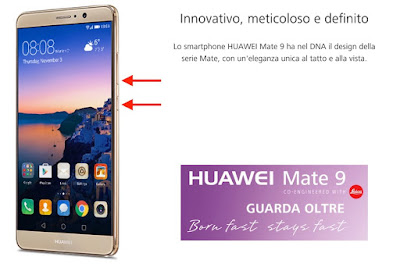 come salvare screenshot huawei mate 9 pro