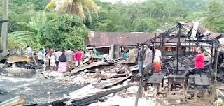 Kebakaran di Kacamatan Sarudik