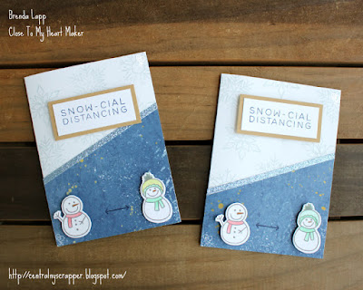 Snow-cial Distancing cards