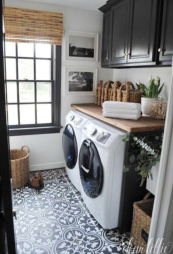 I Am Excited To Show You Our Newly Updated Laundry Room Especially About The New Tile Floor From Sponsor Josain