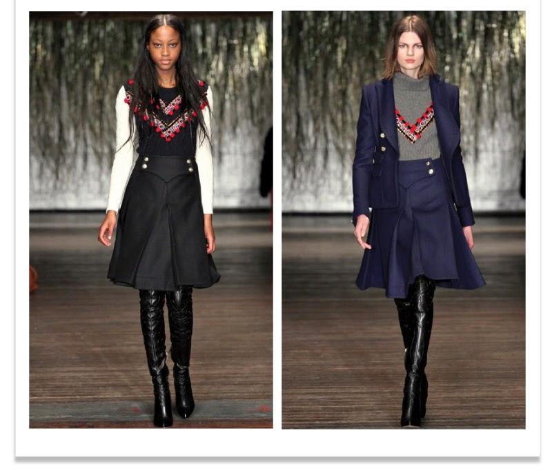 En invierno podemos optar por las faldas vaqueras azul oscuras y negras  tipo midi con vuelo. Ajustadas a la cintura consiguen un estilismo muy  femenino eso ... aeeb942eb015