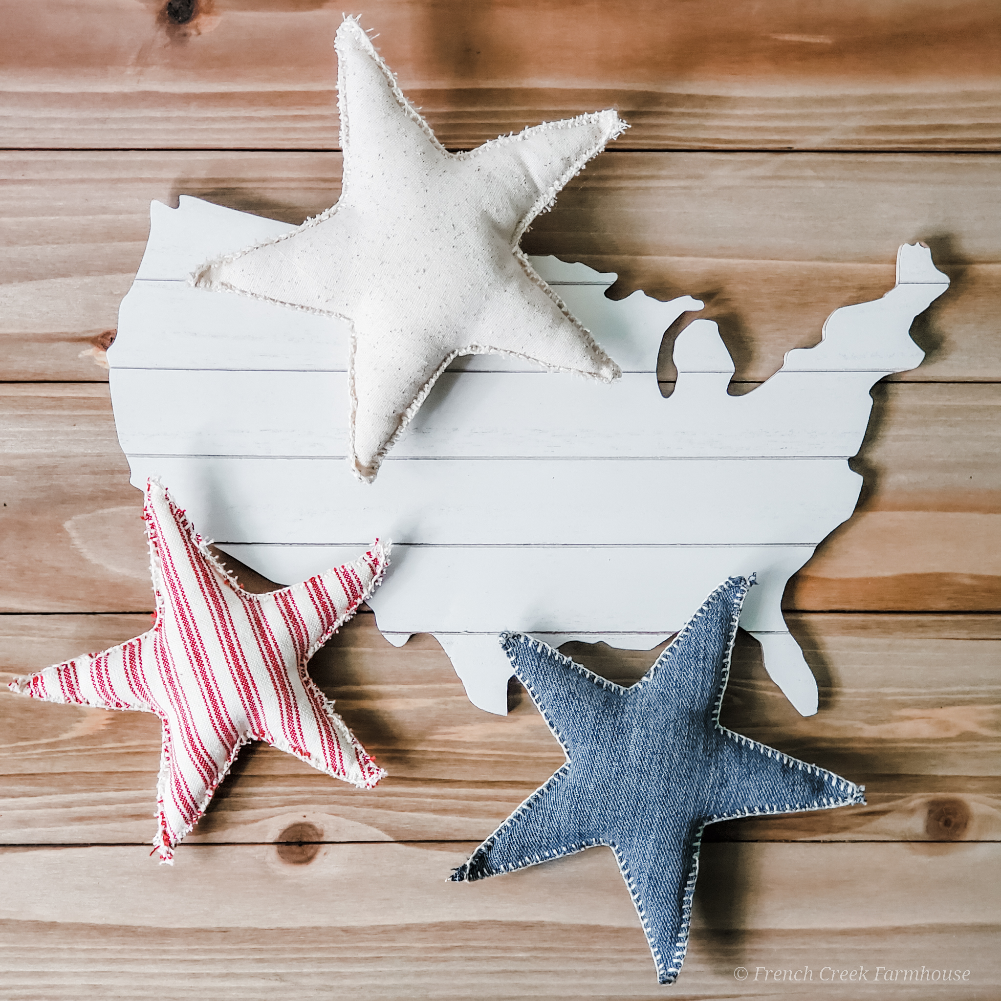 Make neutral decor for your farmhouse 4th of July