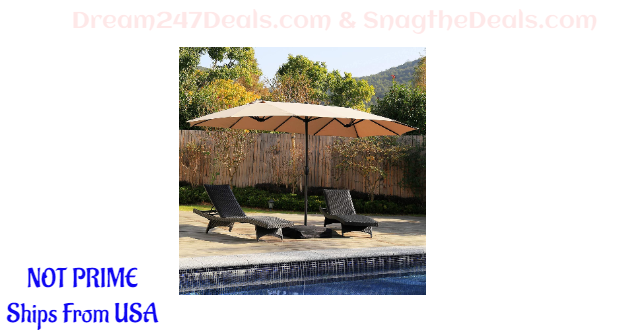 Aok Garden Double-Sided Twin Patio Umbrella  30% OFF