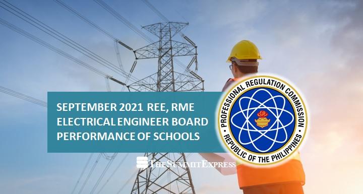 REE, RME RESULT: September 2021 Electrical Engineer performance of schools