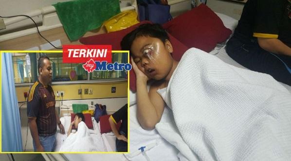 """""""Papa, kenapa saya jadi macam ni?"""" – Derita adik Arifuddin Mohd Norhafis hidap kanser tisu, Ya Allah sembuhkanlah dia…"""