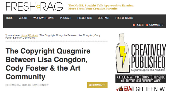 The Copyright Quagmire Between Lisa Congdon, Cody Foster & the Art Community