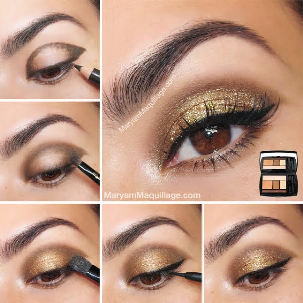 Simple and easy eye makeup step by