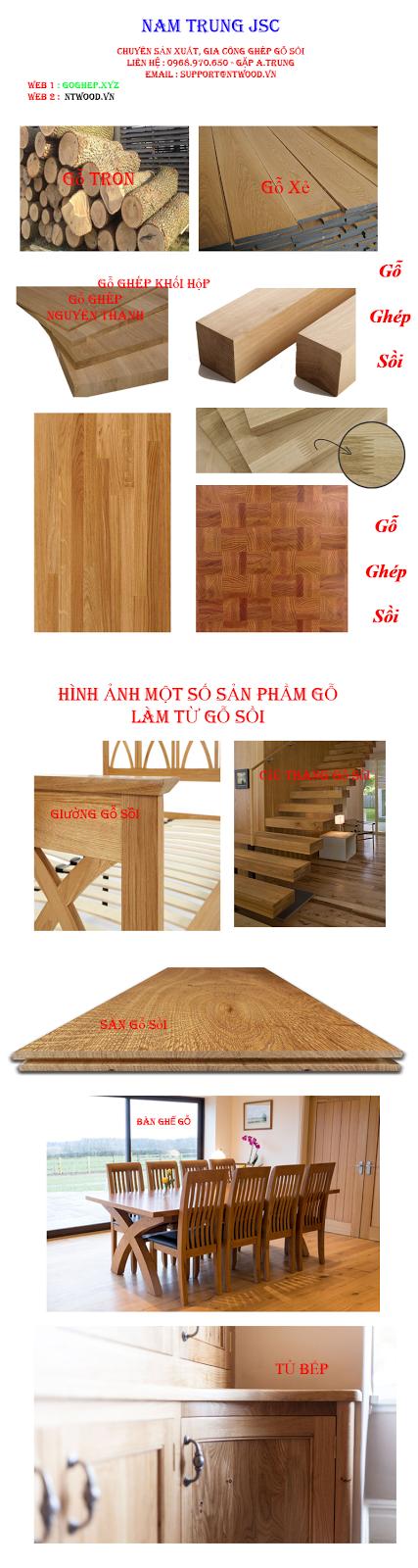 hình ảnh minh họa gỗ ghép sồi