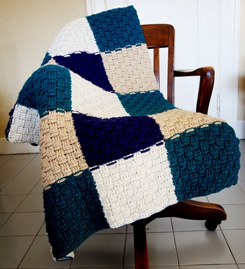 Basketweave Afghan - Free Pattern