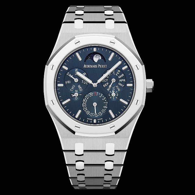 The dial of the Audemars Piguet Royal Oak Selfwinding Perpetual Calendar Ultra-Thin 26586IP.OO.1240IP.01