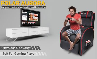 Polar Aurora Gaming Recliner Chair