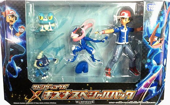 Frogadier figure in Ash-Greninja Bond Special Pack Takara Tomy Monster Collection MONCOLLE
