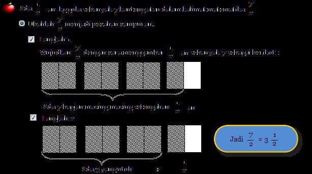Mengubah Pecahan Biasa ke Campuran ~ Math for Fun