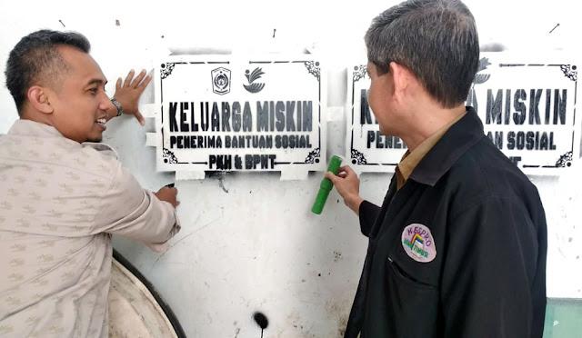 Ujicoba labelisasi rumah penerima bantuan PKH